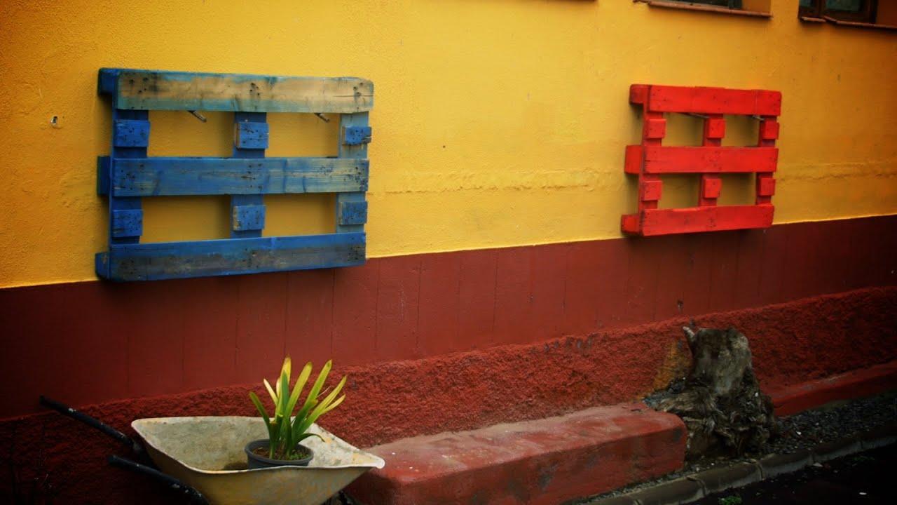 Como hacer un huerto vertical o macetero con palets reciclados para tu jardin wall garden - Jardineras con palets de madera ...