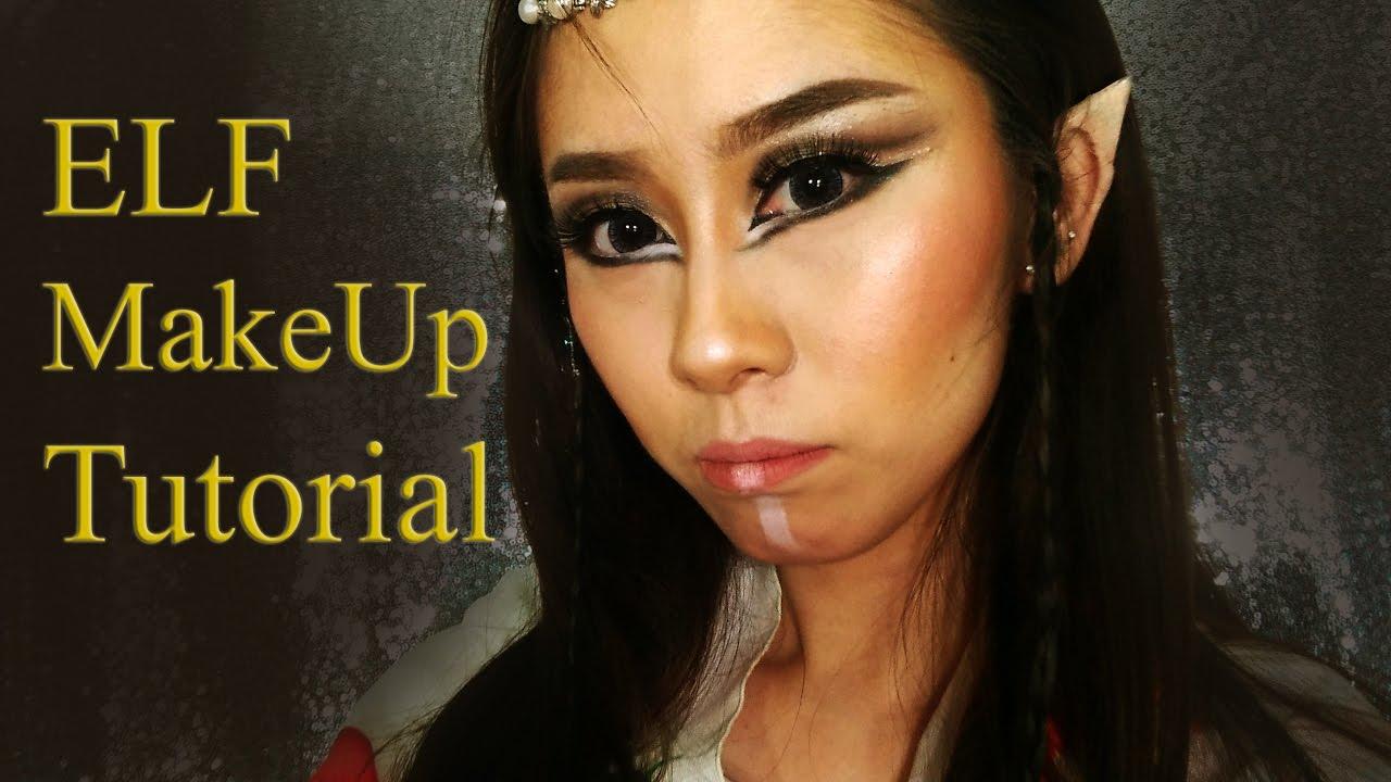 Elf Makeup Tutorial [ bahasa ] peri lord of the ring hobbit elves easy