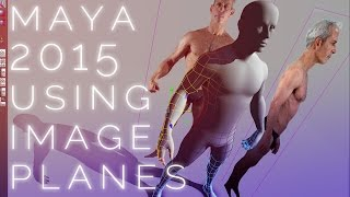 How to use IMAGE PLANES for character modeling in Maya 2015