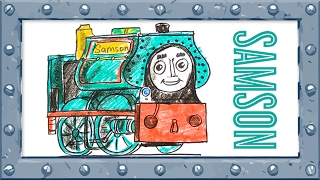 How to Draw Samson ♦ Thomas and Friends ♦ Drawing and Colors Learning video for  Preschoolers