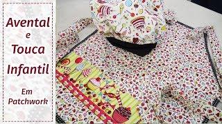 Como fazer um avental infantil com touca de cozinheiro em patchwork