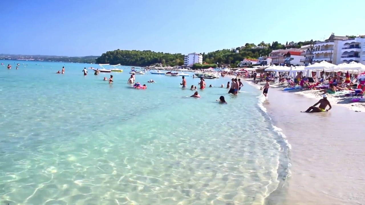Kallithea city beach in Kassandra peninsula. - YouTube