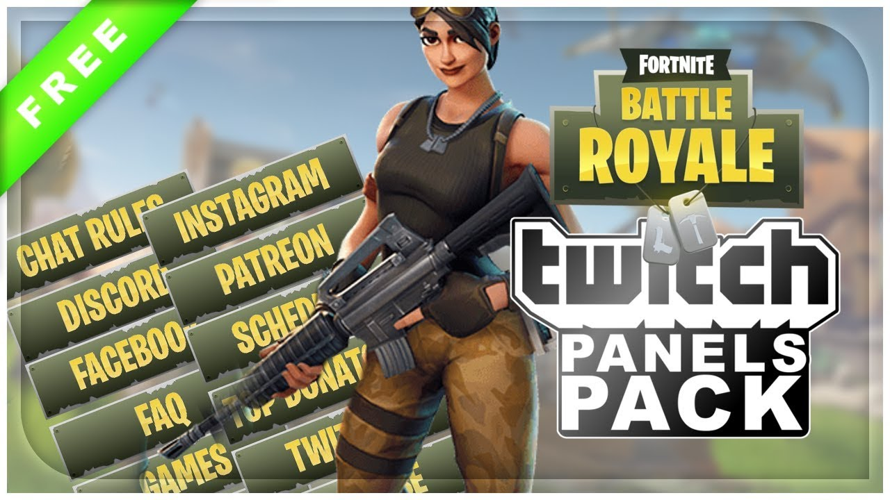Fortnite Panels For Streaming Fortnite Battle Royale Twitch Panels Free Download Youtube