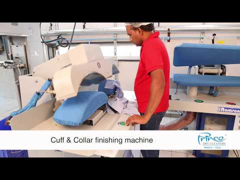 Cuff & Collar Finishing Process at Prince Dry cleaners