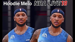 NBA LIVE 18 New Patch & Carmelo Anthony Full Beard & Accessories and Shoes Jerseys