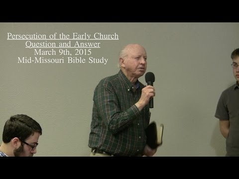Persecution of the Early Church Question and Answer