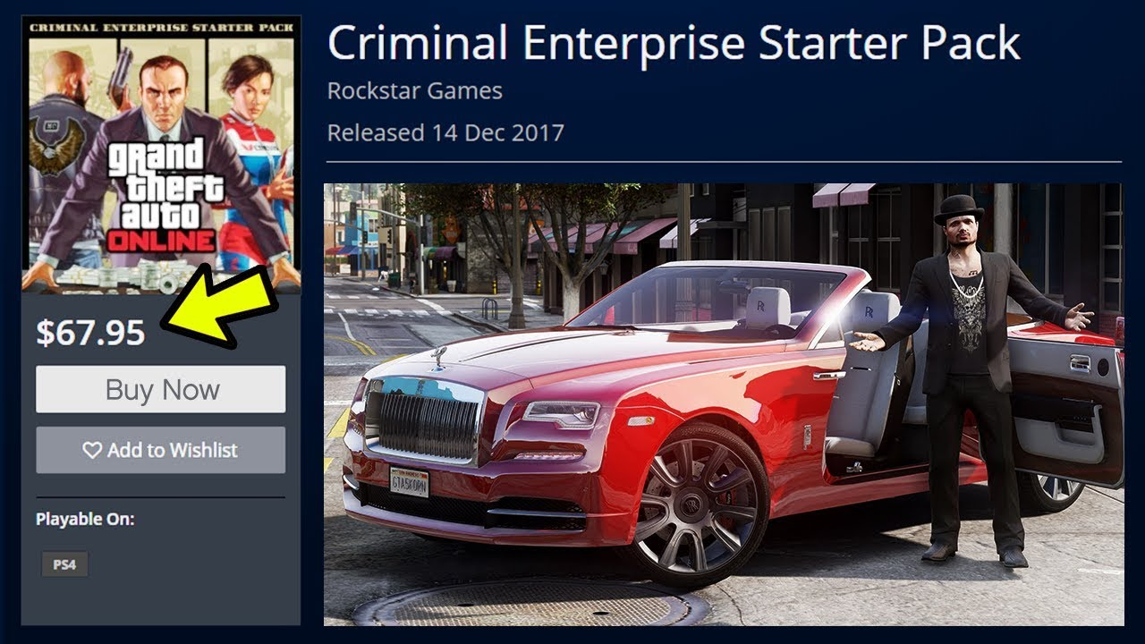 Online Pack Gta 5 Online New Criminal Enterprise Starter Pack Dlc Gta V