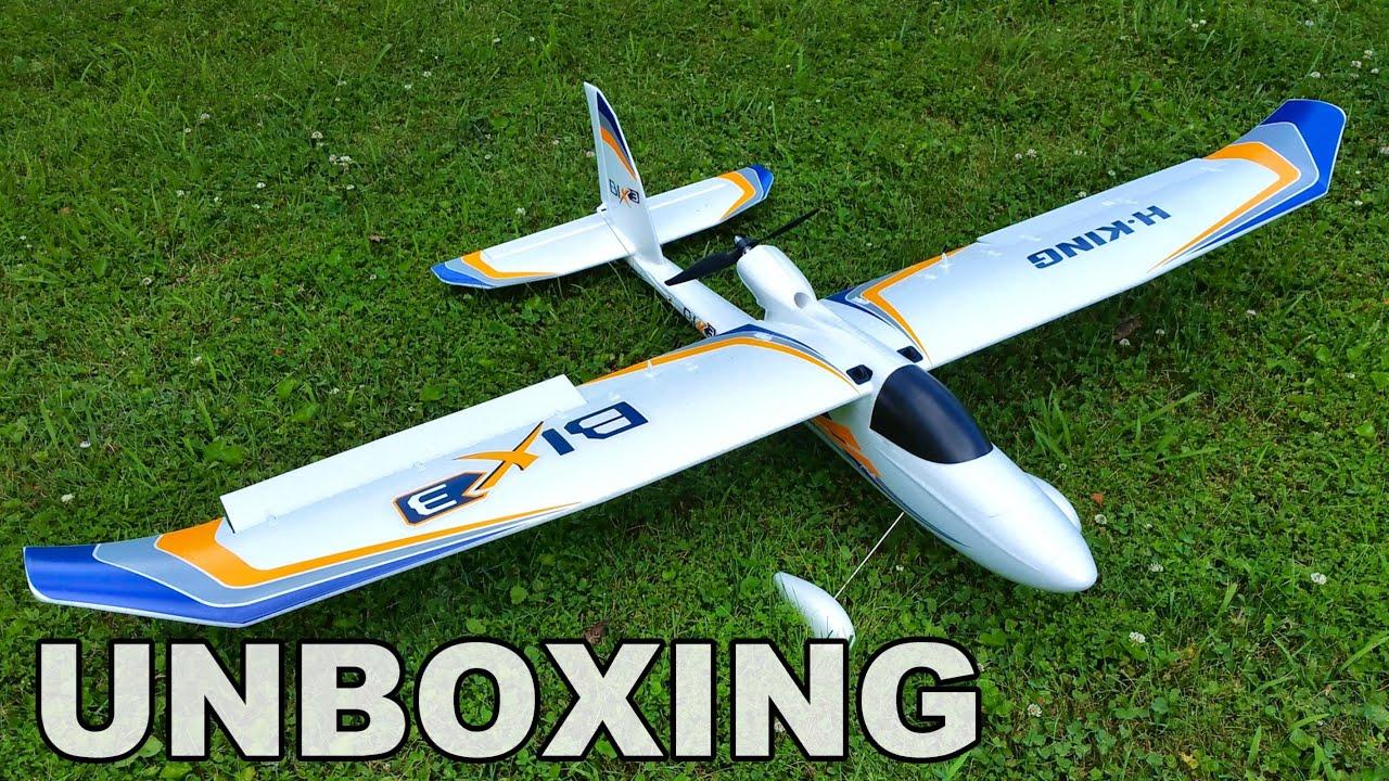 HobbyKing Bix 3 Bixler RC Trainer Plane Unboxing & Quick ...