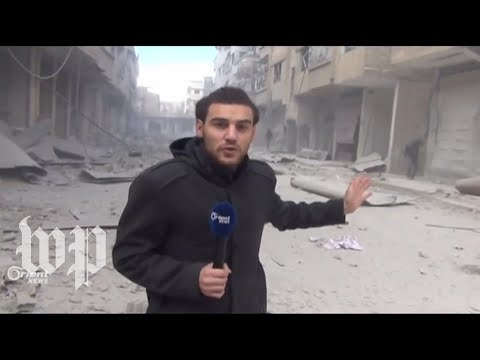 Syrian reporter injured on camera while covering ongoing civil war