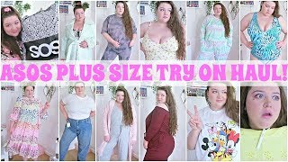 ASOS PLUS SIZE TRY ON HAUL! LOUNGEWEAR, SWIMWEAR & BIRTHDAY DRESSES FOR STAYING IN! #STAYATHOME