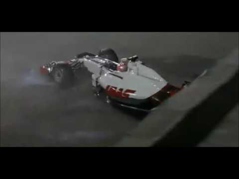 Gp Singapore 2016 - Crash Romain Grosjean