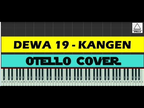 Dewa 19 - Kangen Easy Piano Cover Tutorial + Lyrics (cc)