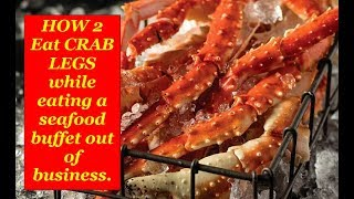 How To Eat Crab Legs Like a Boss... !