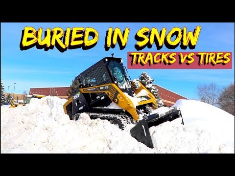 Tires Or Tracks On A Skid Steer In Deep Snow-Can You Plow With A Tracked Loader?
