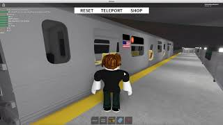 R68A (V) Train Enters & Departs Testing North (Roblox Subway Testing Remastered)