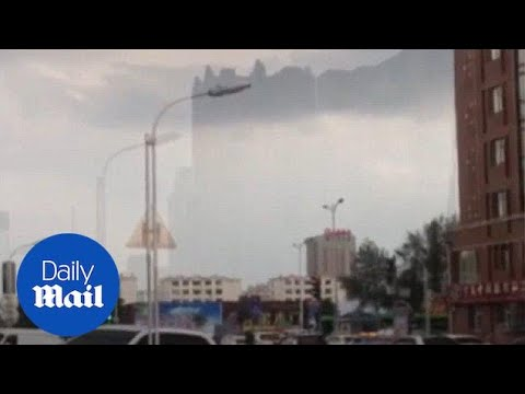 'Floating city' appears in the sky after a heavy hailstorm - Daily Mail