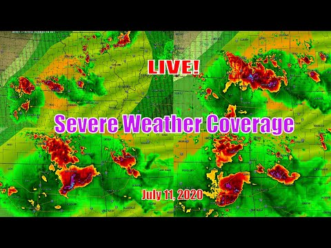 Severe Weather Live Coverage -  Central, South U.S. - The Severe Weather Channel - July 10, 2020
