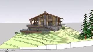 видео Проекты комбинированных домов в стиле Шале и их преимущества
