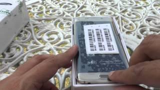 SAMSUNG Galaxy S6 Edge Platinum Gold Unboxing