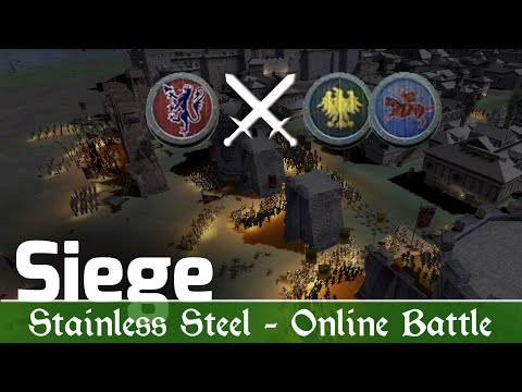 M2TW: Stainless Steel Online Battle #12 (1v2 Siege) - Night is Upon Us