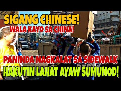 SIGANG CHINESE! AYAW ALISIN PANINDA SA SIDEW*LK HIN*AKOT NG CLEARING TEAM! MANILA CLEARING OPERATION