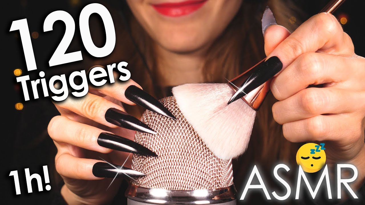 [ASMR] 120 Best Triggers For Sleep & Deep Relaxation 😴 1Hr (No Talking)