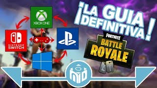 Cómo JUGAR Fortnite Crossplay - Switch, PS4, XBox One, PC, IOS | N Deluxe