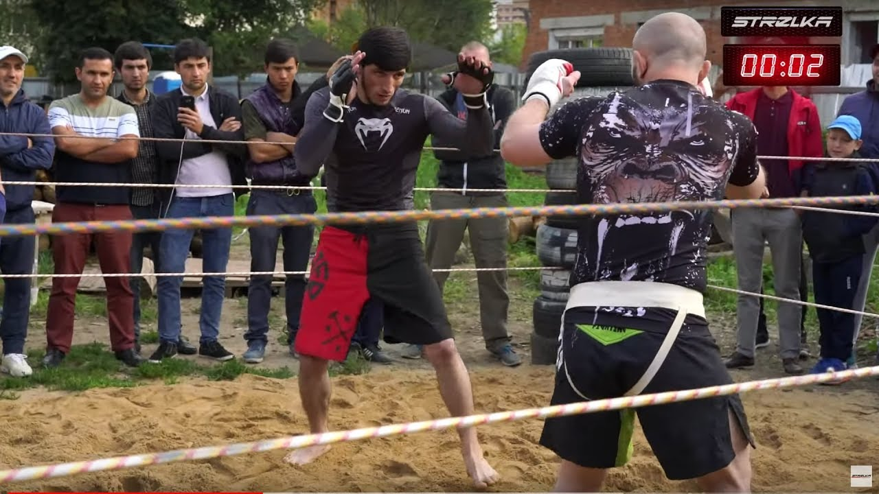 МУСЛИМ Борец против ХАСБУЛЫ бойца ММА !!!!