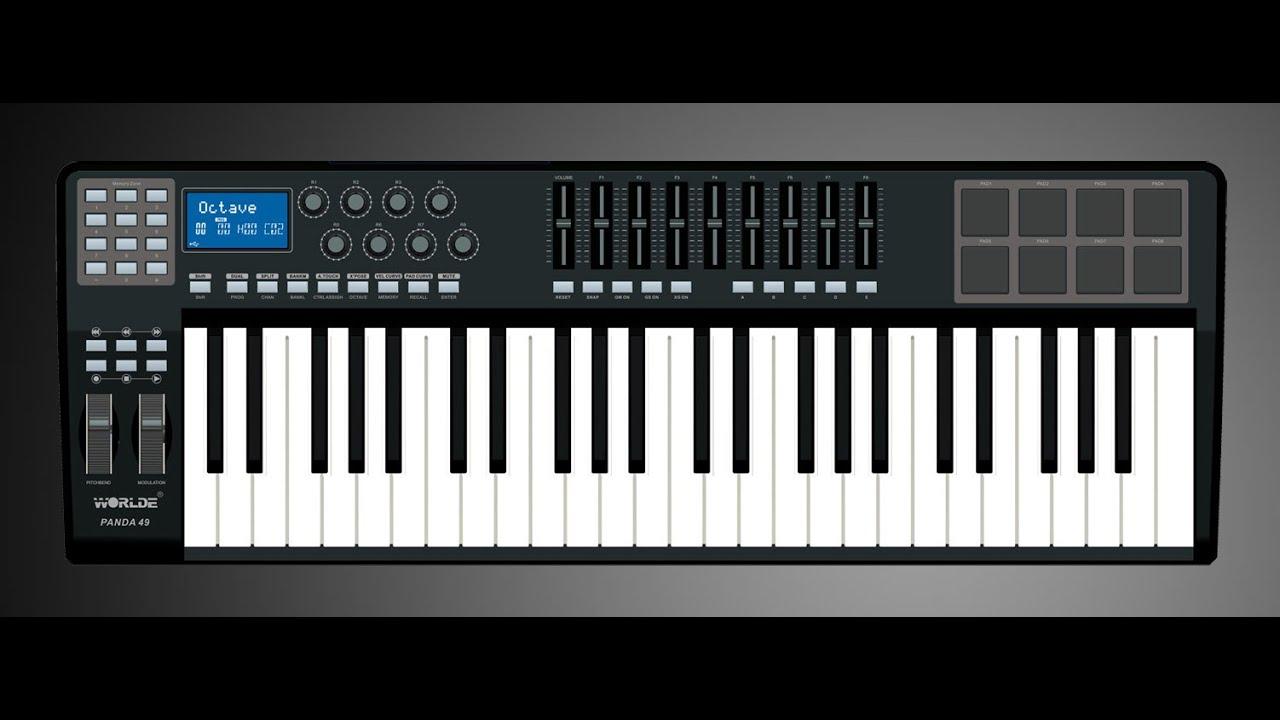 "WORLDE ""PANDA 49"" Midi Keyboard - Tricks & tips - YouTube"