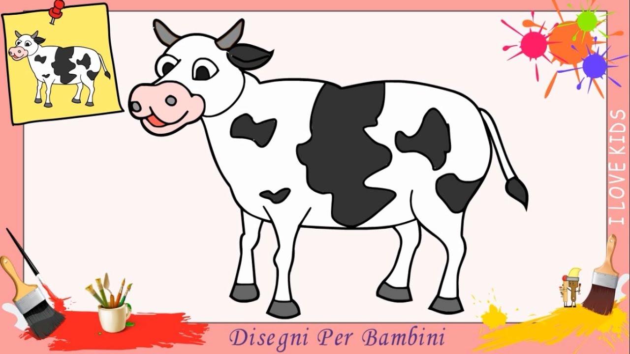 Disegni di mucca facili per bambini come disegnare una for Disegni di animali per bambini