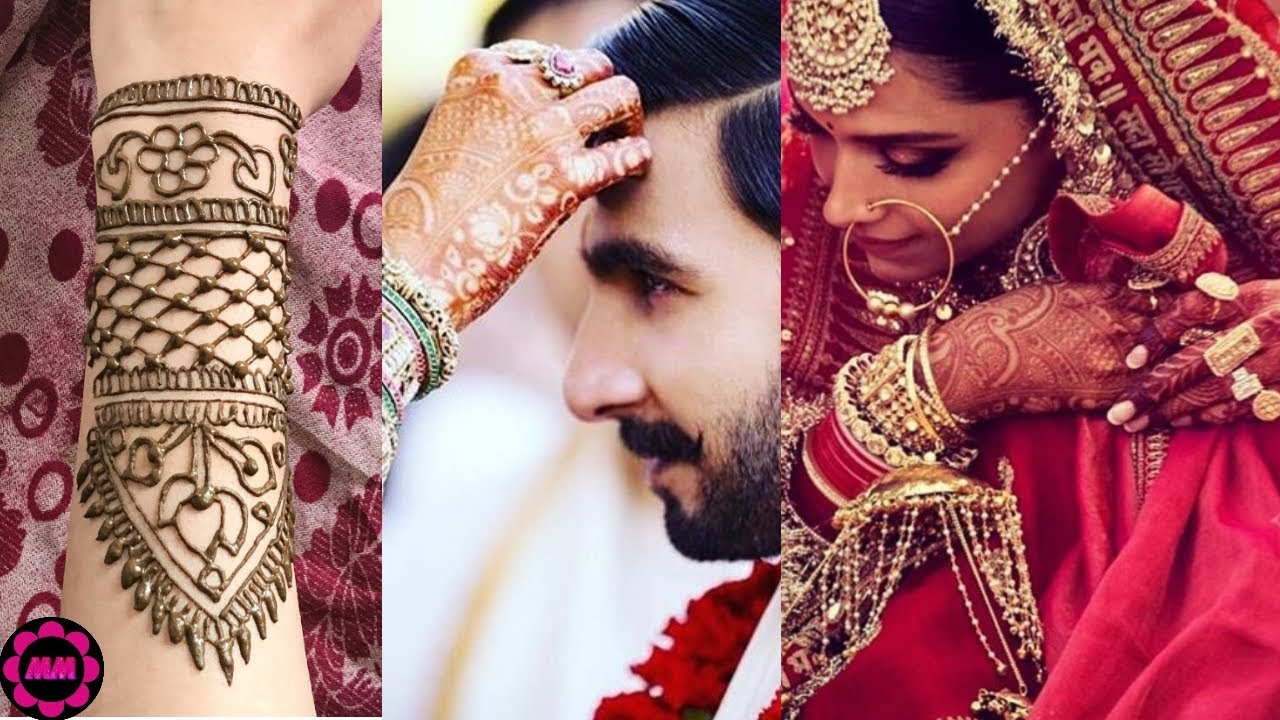 Deepika Padukone Wedding Mehndi Design Recreation - YouTube
