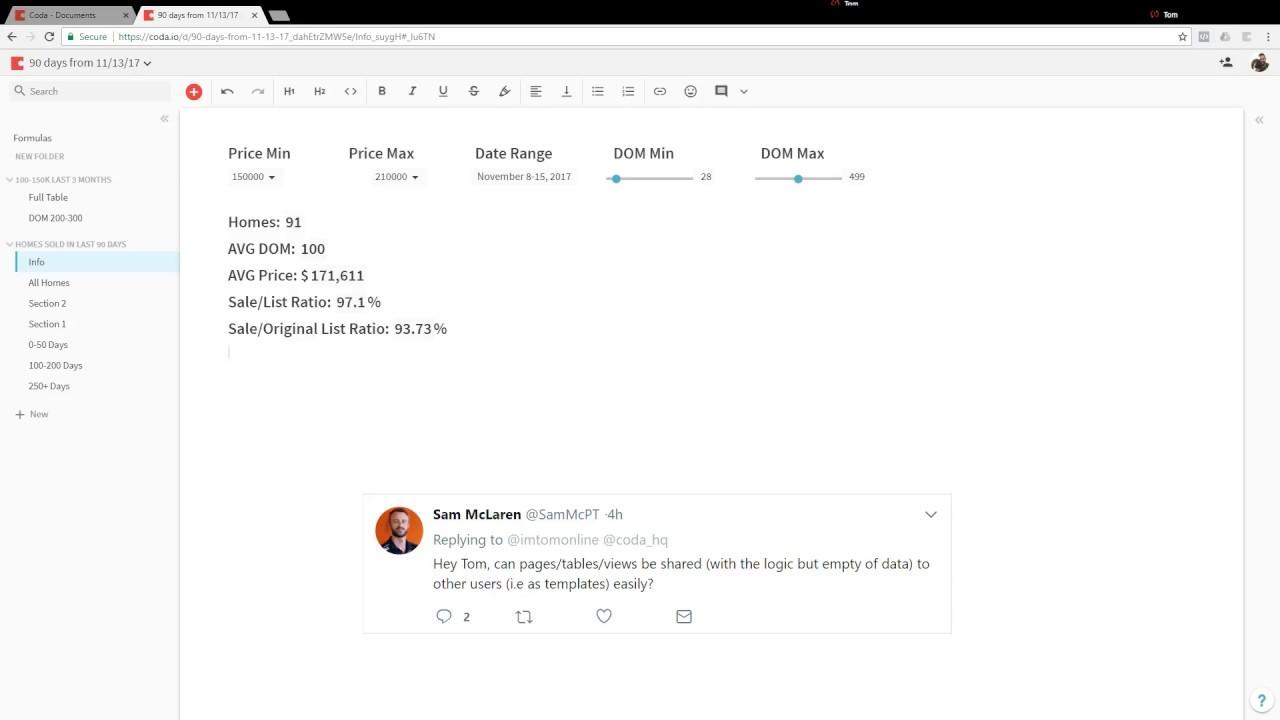 Can you do a template with Coda.io? --Coda Demo-- - YouTube