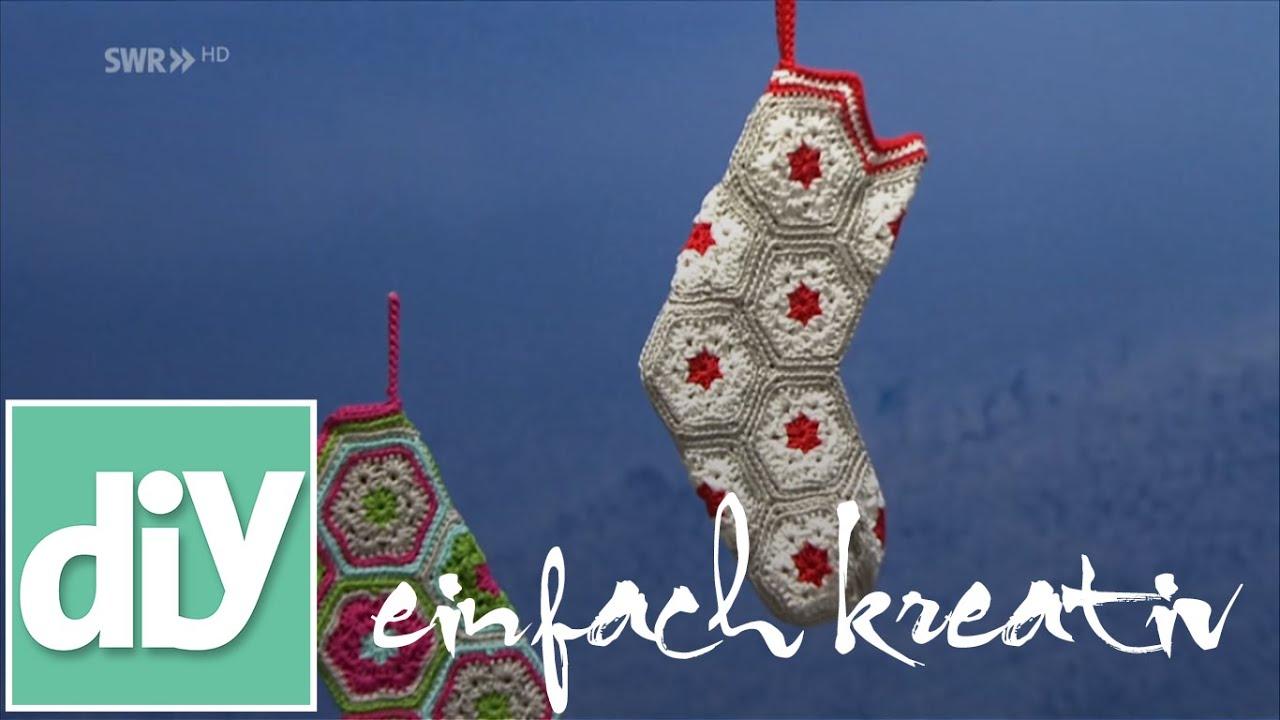 Socke Für Den Nikolaustag Häkeln Diy Einfach Kreativ Youtube