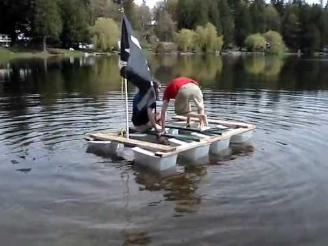 Diy Plastic Tub Boat Youtube