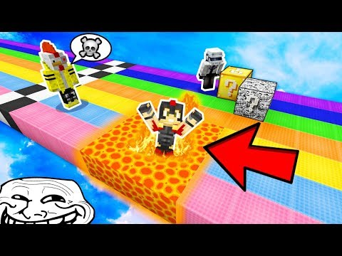 ¡INTENTA NO REIR CON LA CARRERA MAS TROLL DE LUCKY BLOCKS 😂! - MINECRAFT