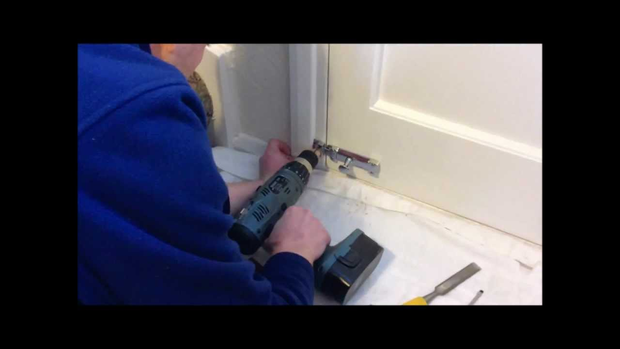 How to fit a door lock  sliding bolt  YouTube