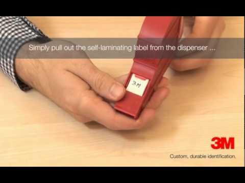 3M™ Cable Identification - 3M™Scotchcode™ Write On Dispenser - YouTube