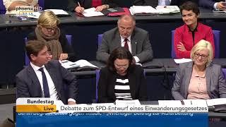 Einwanderungsgesetz: Bundestagsdebatte vom 22.11.2017