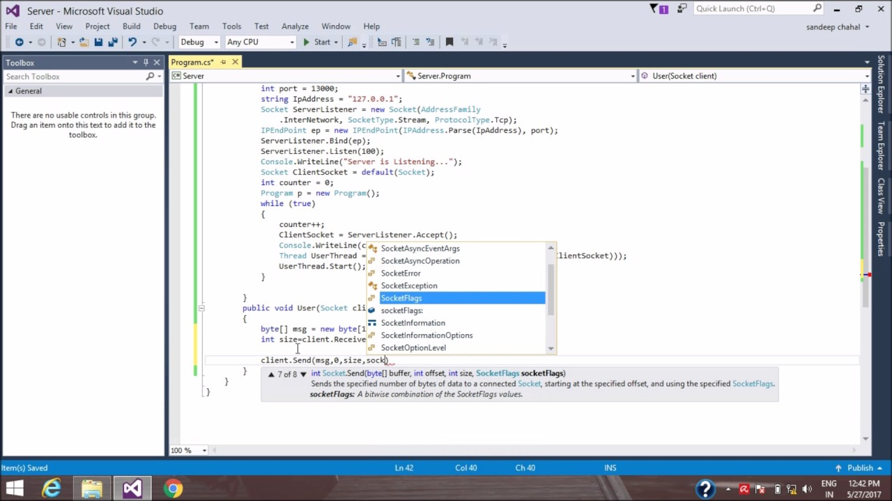 [Simple & Easy way] How to Connect Multiple clients to single Server using  C#