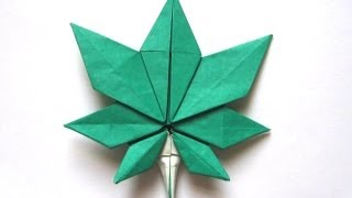 Origami Maple Leaf By 'jassu' Kyu-seok Oh (part 1 Of 2)