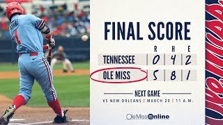 HIGHLIGHTS   Ole Miss defeats Tennessee 5 - 0 (03/18/18) #WAOM #FinsUpRebels