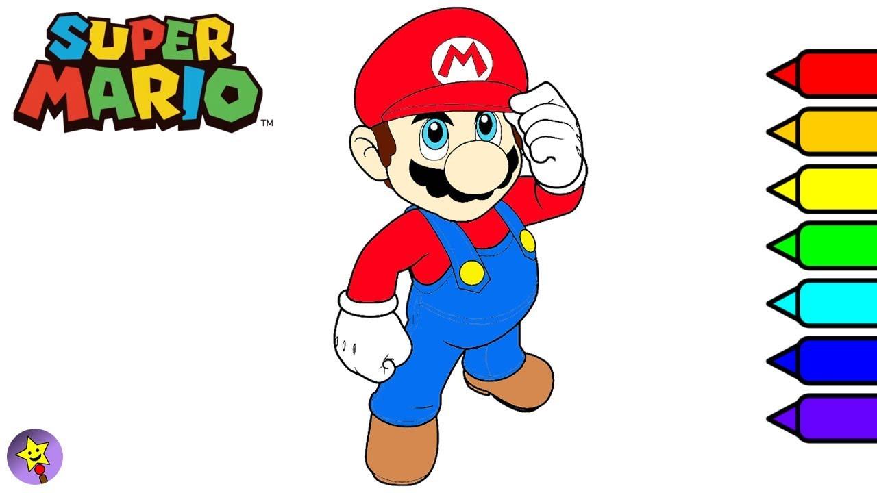 Super Mario Coloring Book Super Mario Coloring Page Nintendo - YouTube