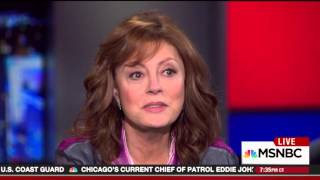 Susan Sarandon suggests Trump could be better choice for president than Clinton