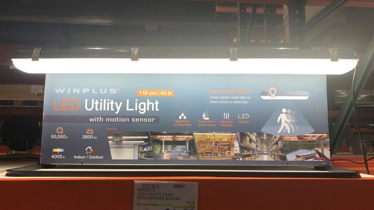 Winplus Led Utility Light With Motion Sensor From Costco