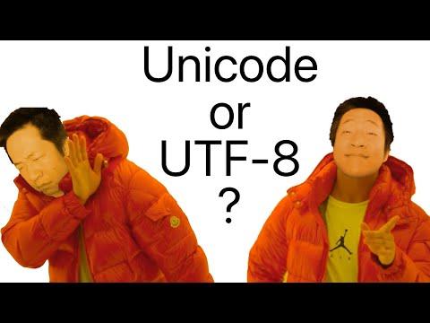 Unicode vs UTF-8