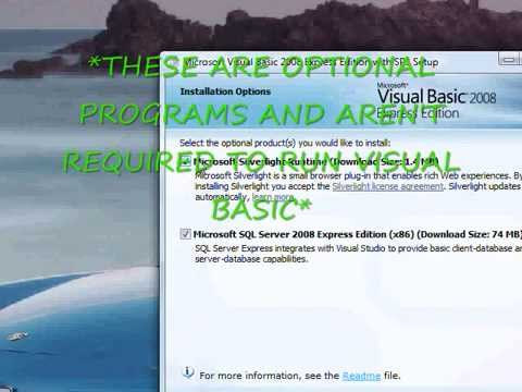 Cara Instal Visual Basic 2008 Express Edition