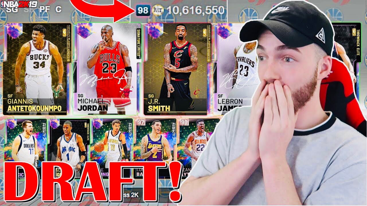 Best Mt Central Draft Ever 98 Overall Draft 4 Times Insane Final Draft Nba 2k19 Myteam Youtube
