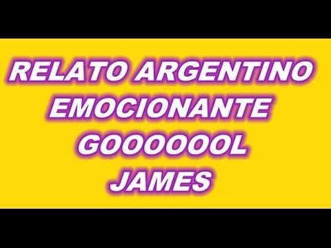 GOL JAMES RODRIGUEZ COLOMBIA 2 VS URUGUAY 0 RELATO ARGENTINO 2DO GOL EMOCIONANTE
