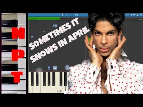 Prince - Sometimes It Snows In April - Piano Tutorial - Instrumental