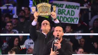 CM Punk and The Rock respond to The Shield's attack on The Great One: SmackDown, Jan. 25, 2013: